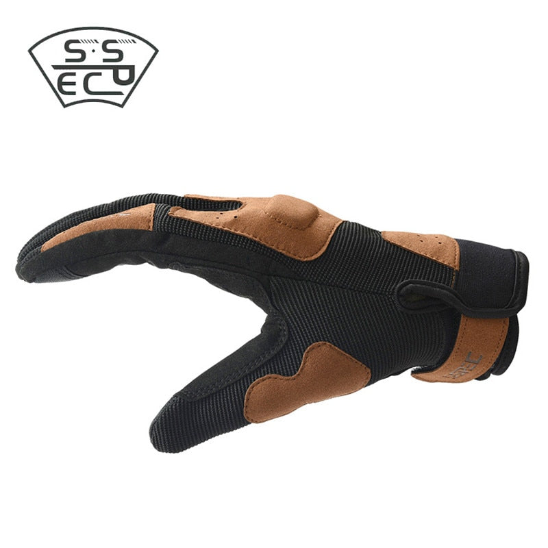 Breathable Non-slip Retro Motorcycle Gloves