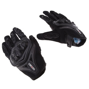 Full Finger Touch-Screen Motorcycle Black Glove