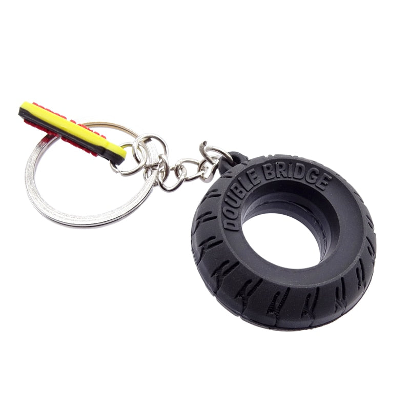 Key Ring Car Rubber Tyre Keychain - Giveaway !