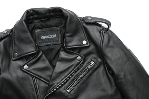 Black Genuine Leather Classical Motorcycle Jacket