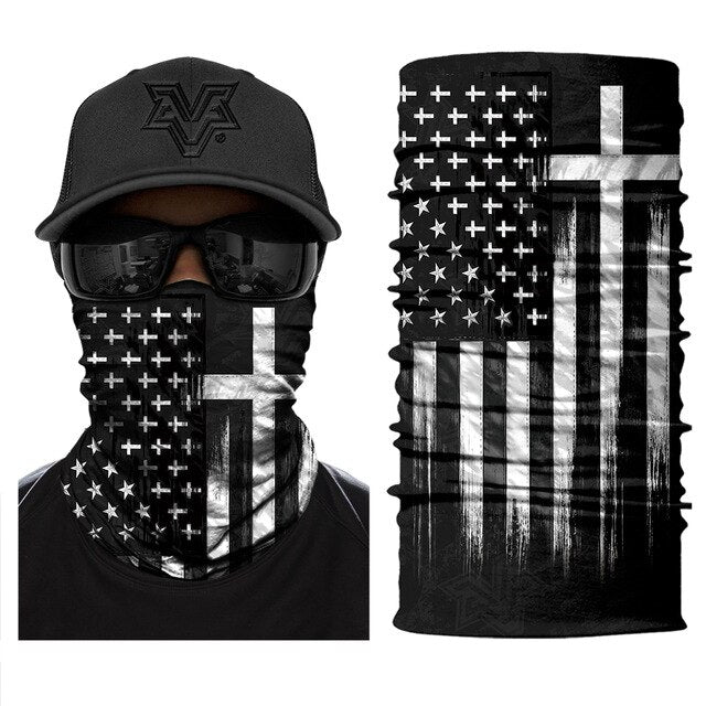 3D Printed National Flags Warmer Half Face Mask