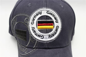 Embroideried Germany Flag Logo Baseball Cap
