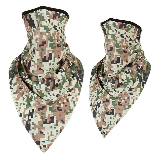 Camouflage Ear Cover Face Shield Tube Breathable Scarf