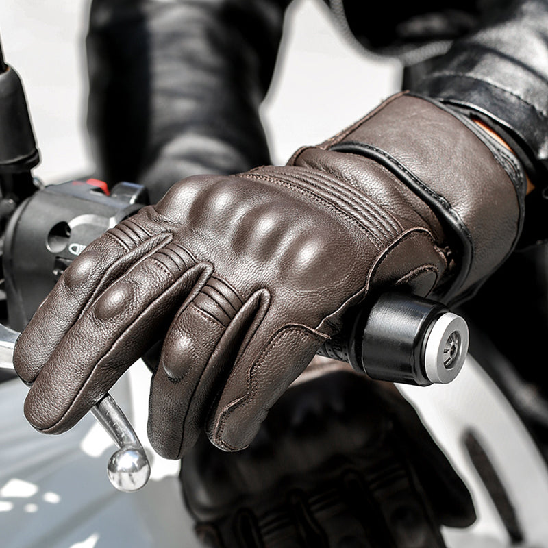 Thermal Warm Motorcycle Leather Gloves