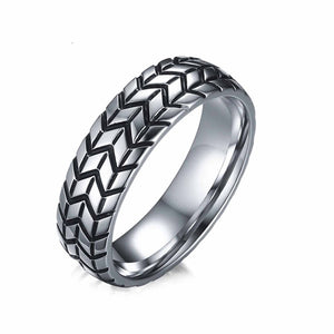 Tire Tread Style Grooved Ring