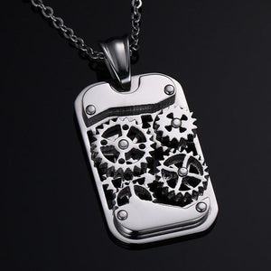 Steampunk Machine Pendants Steel Gear Design Necklaces
