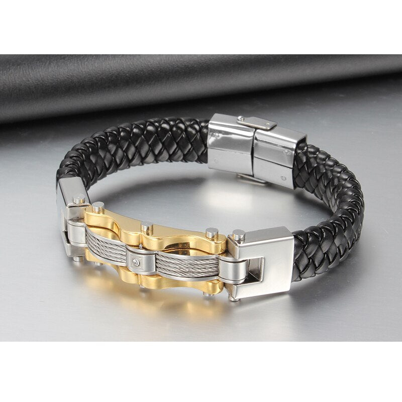 Genuine Leather Braided Bracelet