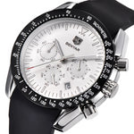 Silicone Strap Waterproof Sport Chronograph Watch