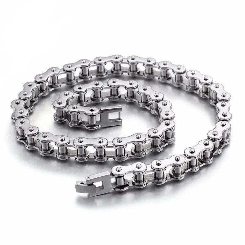 Polished Bike Chain Necklaces