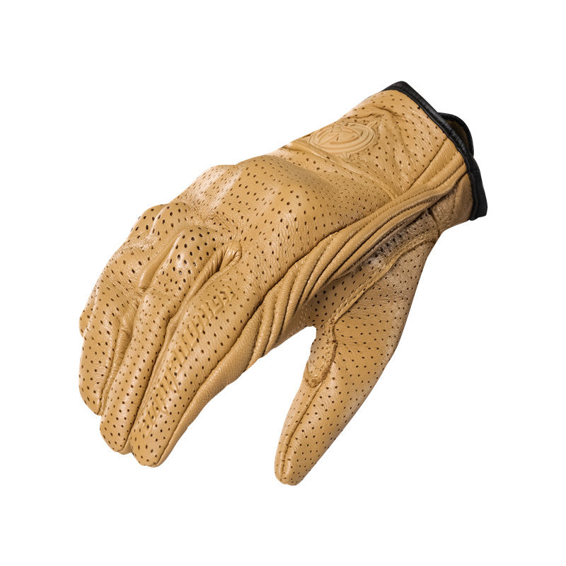 Genuine Leather Touch Screen Full Finger Motorcycle Glove