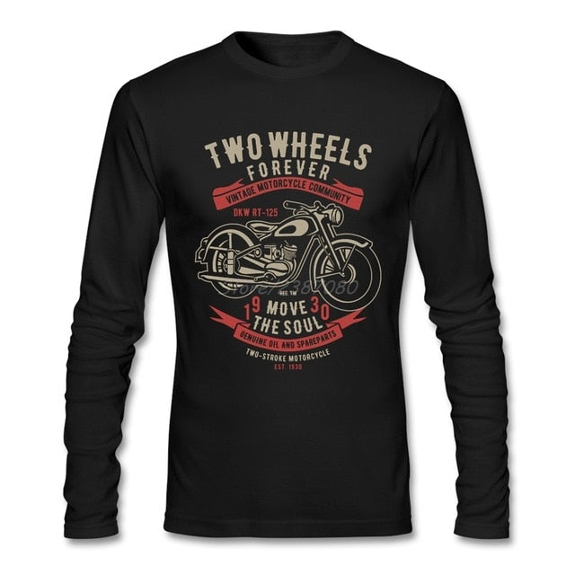 Two Wheels Move The Soul Vintage Motorcycle T Shirt