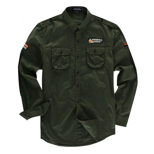 Patches Design Military Cotton Shirt