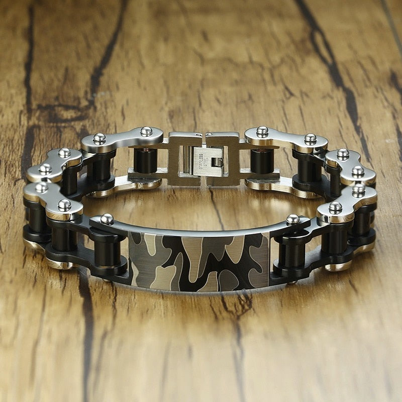 Motorcycle Chain Camouflage Bracelet