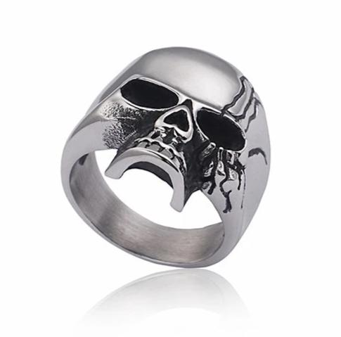 Punk Skull Steel Shiny Skeleton Ring