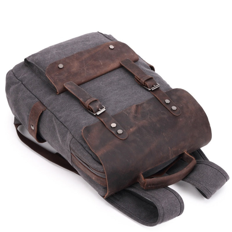Vintage Multifunction Canvas Leather Backpacks