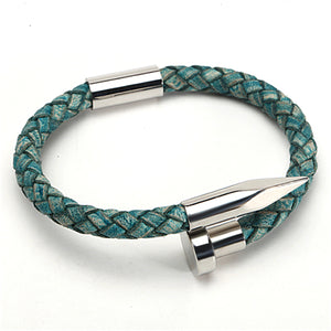 Genuine Leather Magnetic Clasp Bracelet
