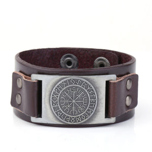 Viking Compass Leather Bracelets