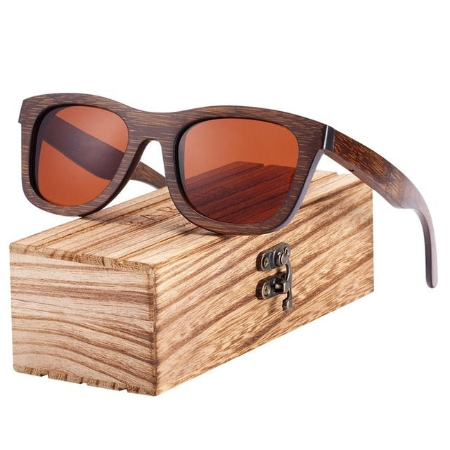 Bamboo Brown Color Wooden Sunglasses