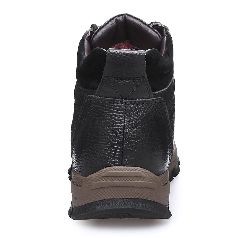 Genuine Leather Warm Casual Motorcycle Boots