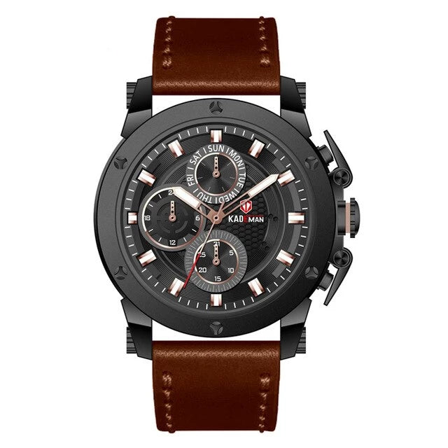 Leather Strap Multi Functional Business Casual Watch