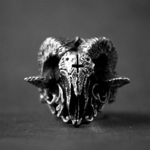 Punk Gothic Satanic Demon Skull Ring