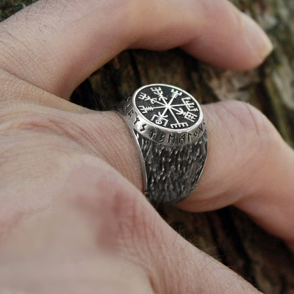 Vikings Compass Magic Stave Ring