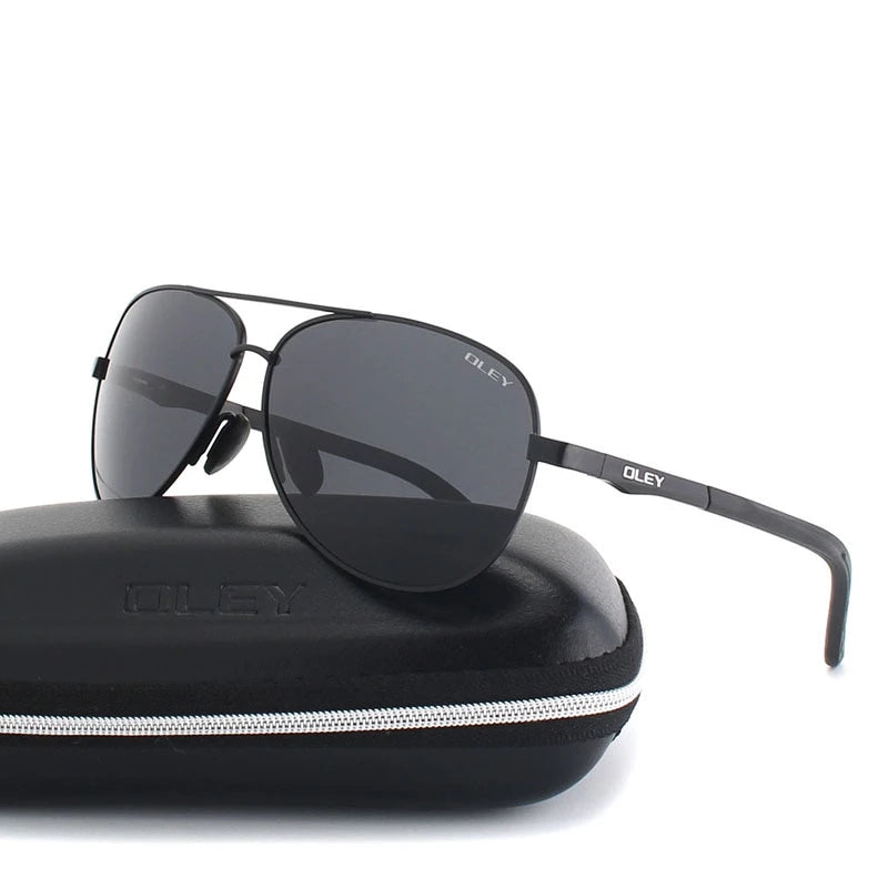 Unisex Polarized Classic Black Lens Sunglasses