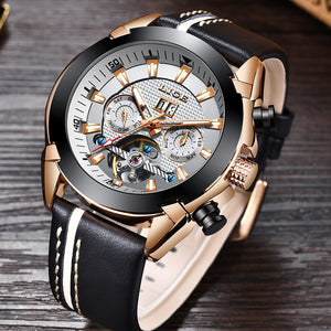 Business Casual Automatic Leather Strap Watch
