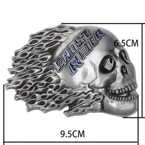 Ghost Rider Decorative Strap Punk Skull Leather Belt