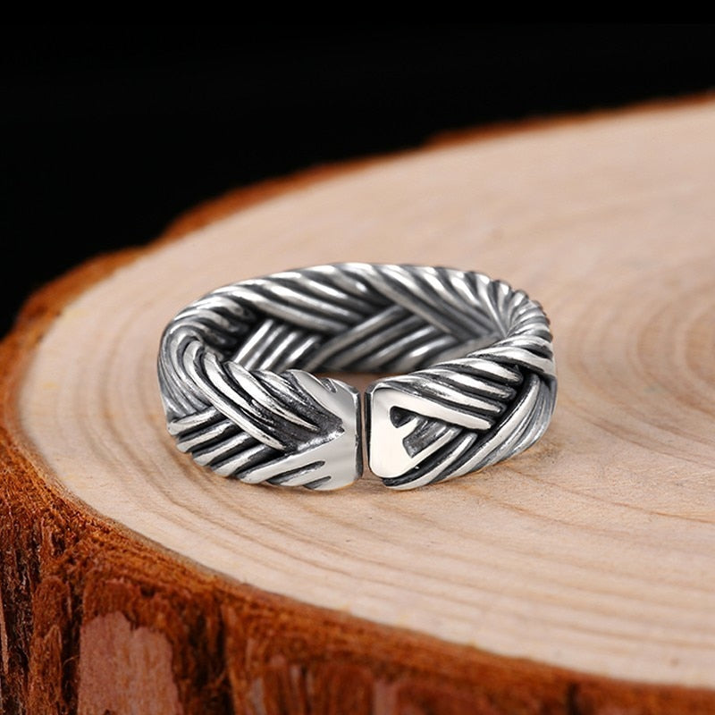 Sterling Silver Boho Eternity Adjustable Ring