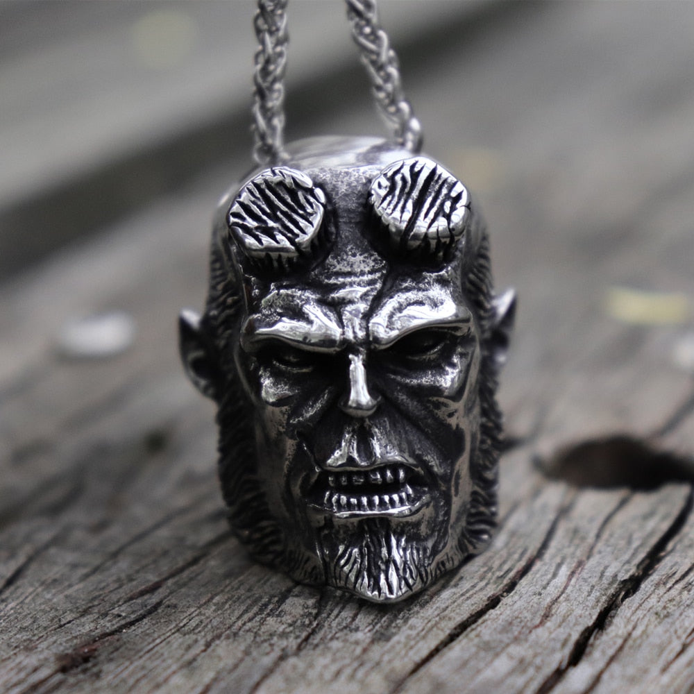 Heavy Hellboy Devil Pendant Necklace