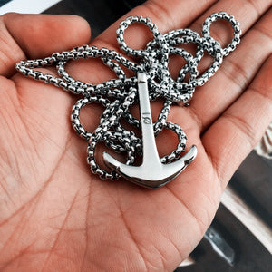 Anchor Fishman Pendants Hook Necklace