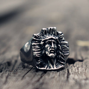 Son of God Vintage Jesus Cross Ring
