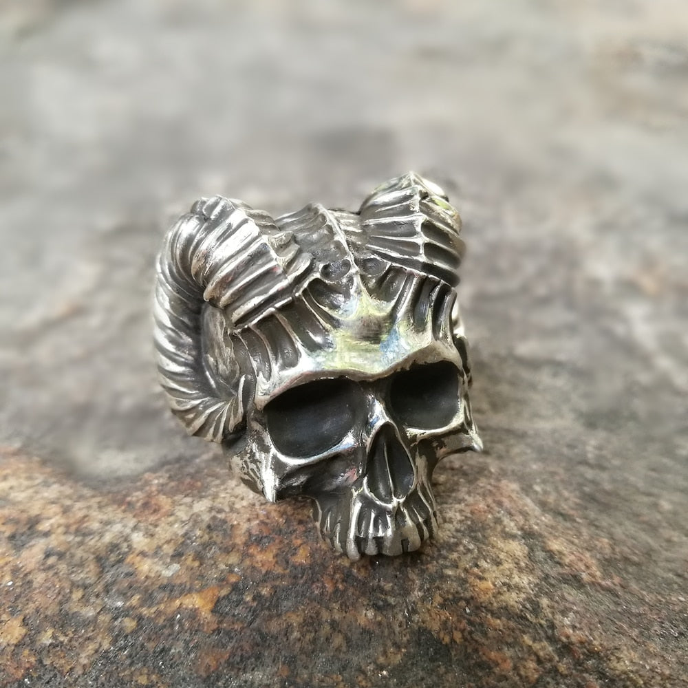 Horned Devil Skull Rings