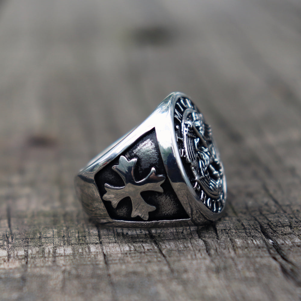 Knights Templar Guardian Angel Ring