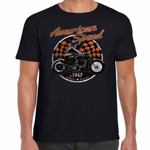 American Speed Motorcycle Bobber T Shirt