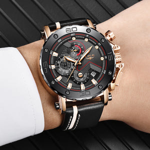 Leather Strap Chronograph Business Casual Watch