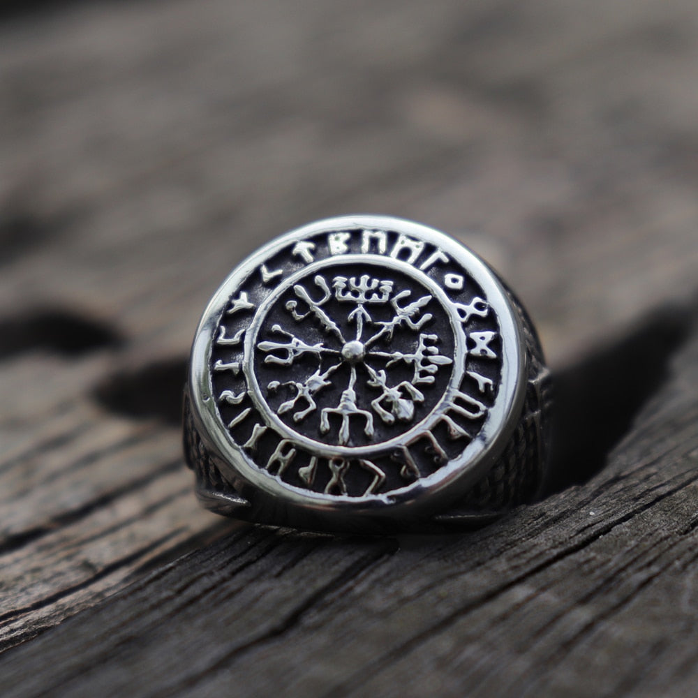 Vikings Compass Magic Nordic Ring