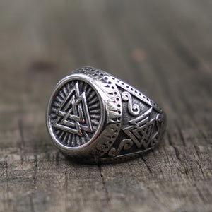 Valknut Norse Style Odin Runes Rings