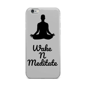 Wake N Meditate iPhone Case