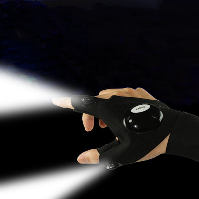 Fingerless LED Flashlight Torch Glove - Happy Health Star