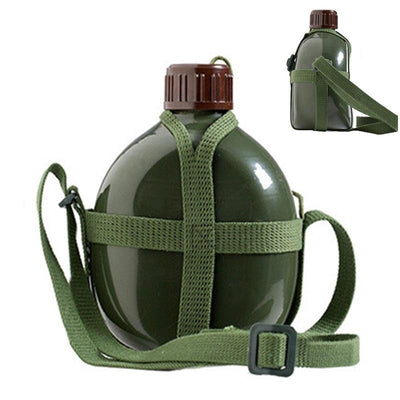 Aluminum Hiking Kettle Bottle With Shoulder Strap - Happy Health Star