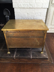 Antique Brass Coal Box-SOLD