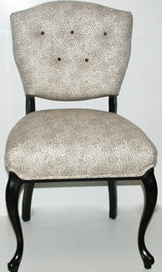 Black and White Side Chair-SOLD