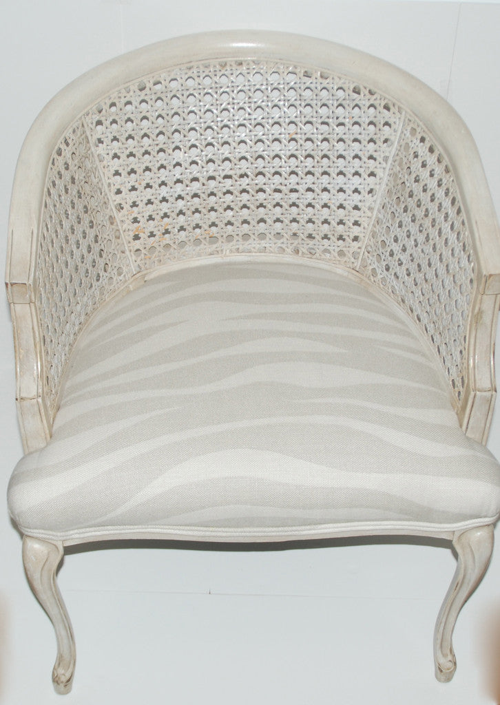 Barrel Back Cane Chair-SOLD