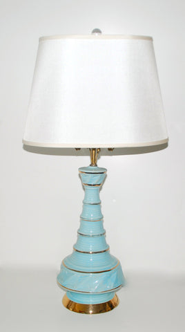 Tiffany Blue Lamp - SOLD