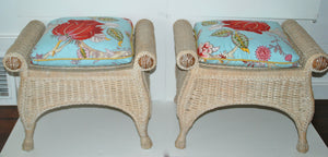 Pair of Wicker Benches - SOLD