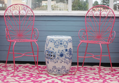 Outdoor Pink Chairs - SOLD