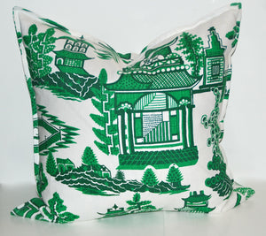Green Pagoda Pillows-SOLD