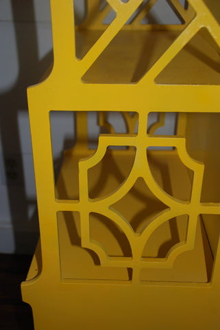 Yellow Fretwork Etagere - SOLD